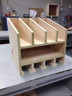 Woodworking Shop Cordless tool and nail gun storage. Workshop Storage, Workshop Organization, Garage Workshop, Organization Ideas, Workshop Ideas, Storage Ideas, Diy Garage Storage, Gun Storage, Lumber Storage