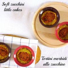 Soft zucchini little cakes (eggless) . Tortini morbini alle zucchine (senza uova)