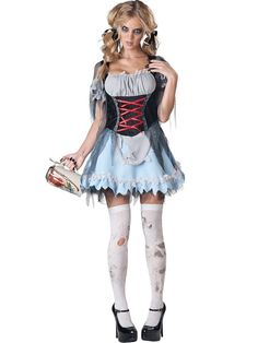 Zombie Beer Maiden Adult Womens Costume - Yodel-le-he-boo! Give the spirits a hangover til next Halloween when you wear this Zombie Beer Maiden Adult Womens Costume. Serve up the drafts in thi Costumes Sexy Halloween, Halloween Fancy Dress, Adult Costumes, Costumes For Women, Zombie Costumes, Spirit Halloween, Halloween Ideas, Halloween Party, Female Costumes