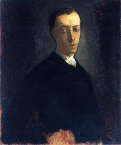 Self Portrait (1864) by American painter & famed maker of stained glass John LaFarge (1835-1910). via the Athenaeum