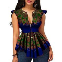 Modern Fashion Womens Tops Dashiki African Print Shirt Plus Size African Print Shirt, African Shirts, African Print Dresses, African Dress, African Dashiki, African Fashion Designers, Latest African Fashion Dresses, African Print Fashion, Africa Fashion