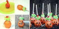 Dale un toque terrorífico a las chuches y caramelos de tu fiesta con estas manualidades para tunear tus chupachups con temática de Halloween.