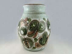 36) Good Denby Glyn Colledge Mid 20thC Abstract Floral Design Vase 18cms tall Est. £25-£30