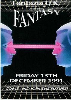 Fantazia 1991 Fantasy @ Clyro Court Hereford #raveflyers uploaded to #phatmedia