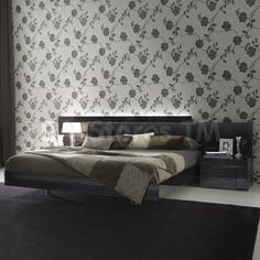 Rossetto USA Nightfly Platform Bed in Ebony by Rosetto