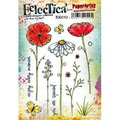 Paper Artsy ECLECTICA3 KAY CARLEY 03 Rubber Cling Stamp EKC03