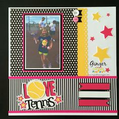 Miss Kate Cuttables: Love Tennis Scrapbook Page Layout