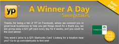 A Winner A Day Sweepstakes from YP.com! Ends 6/22/13