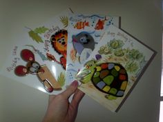 Googly Eye: Birthday cards for children with a colour-in and cut-out your own bookmark inside. Each card is embossed with a UV- varnish finish and is hand-finished with googly eyes. http://www.clairelouise.eu/greetings-cards/googly-eyes.html