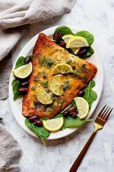 This baked dijon salmon is a healthy quick dinner that's ready in less than 30 minutes. You only need a few ingredients to make this salmon recipe. Forget about boring and plain salmon! This is an easy recipe that's so delicious. Serve with rice, salad or roasted potatoes for a complete meal. Healthy Salmon Recipes, Fish Recipes, Lunch Recipes, Seafood Recipes, Dinner Recipes, Dijon Salmon, Salmon Marinade, Oven Baked Salmon, Healthiest Seafood