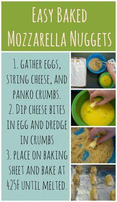 Recipe: Easy Baked Mozzarella Nuggets