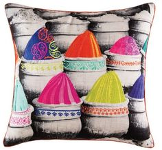 Cushion cover kas size 50 x 50cm square katira multi new design bobin boutique A