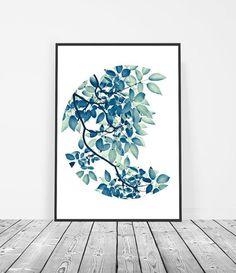 Leaf Print | Leaf Art | Botanical Decor | Leaf Photography | Nature Prints | Green Wall Art | Modern Botanical Prints | Botanical Art | Botanical Interior | Nature Prints | Botanical Design Art. Art Print by Little Ink Empire on Etsy.