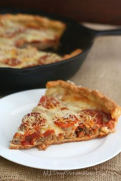 Low Carb Deep Dish Sausage Pizza - the low carb keto pizza you've been dreaming of!