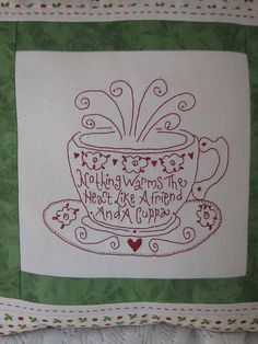Cushion Stitchery closeup by Priscilla33, via Flickr