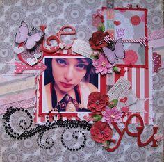 BE YOU *SCRAPS OF ELEGANCE* Feb LOVESONG Kit - created by Teresa0817