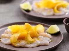 Découvrez la recette Carpaccio de Saint-Jacques à la mangue sur cuisineactuelle.fr.