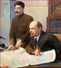 "STALIN: ""I am only a disciple of Lenin and my goal is to be worthy of his… Soviet Art, Soviet Union, History Memes, World History, Russian Revolution 1917, Vladimir Lenin, Communist Propaganda, Joseph Stalin, Socialist Realism"
