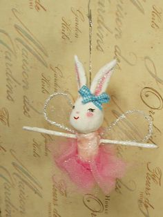 Mabel the white bunny rabbit pixie fairy by sugarcookiedolls