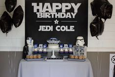 Jedi Star Wars birthday party! See more party planning ideas at CatchMyParty.com!