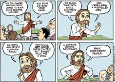 Cartoon: Stuff Jesus said........If you like this one, check out Matt's website or the Daily Kos site for more of his GREAT and really hilarious political cartoons.  He nails it every time and he's worth checkin' out, trust me!  :D