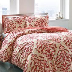 #CityScene Imperial Medallion #Comforter & Duvet Set #bedding #ikat #medallions #red