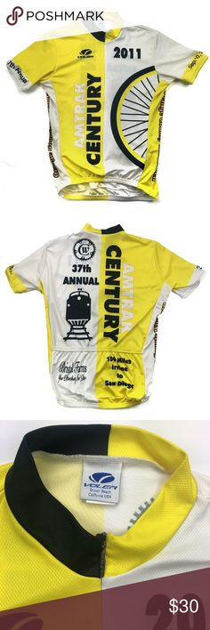 Voler Men s Short Sleeve Bike Cycle Jersey Med Voler Men s Short Sleeve Bike  Cycle Jersey Shirt Yellow Blue Amtrak Century Size  Small Condition   Pre-owned ... 7ebf4e0d3