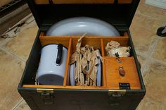 Unused Officer Mess Hall Kit Date 1944 w Trunk Iss   eBay