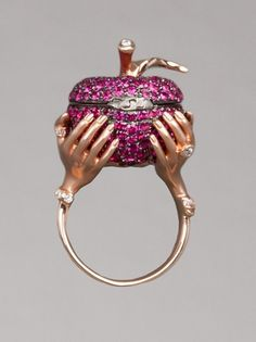 STEPHEN WEBSTER  LARGE POISON APPLE RING