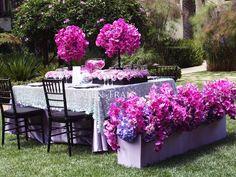 lavender magenta wedding | purple magenta and lavender tabletop ~ for the ... | dark grey pink/p ...
