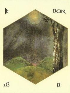 Rune Berkana - big inspiration for ☽O☾ The Goddess Within ☽O☾ pagan novel by Iva Kenaz - moods #goddess #mythology #runes #fantasy