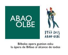 60 Aniversario de la Asociación Bilbaína de Amigos de la Ópera. Logotipo diseñado por García Ergüin