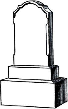 blank headstone for writing character epitaphs or burying dead words rh pinterest com
