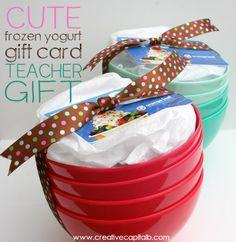 Capital B: Simple FroYo Card Teacher Gift