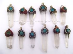 Quartz Crystal Pendants. Click the link to purchase our unique handmade Peruvian jewelry at awesome wholesale prices (includes shipping & insurance!)  Make money with your own online or offline business selling Peruvian Jewelry or save big on beautiful gifts for yourself or that special someone! Click here:  http://www.wholesaleperuvianjewelry.com/