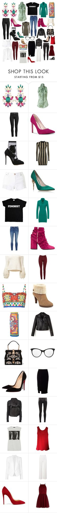 """Some of my favorite things #58"" by andyarana ❤ liked on Polyvore featuring Dolce&Gabbana, L'Wren Scott, Nine West, Balmain, Miss Selfridge, RALPH & RUSSO, WearAll, 3x1, Laurence Dacade and AG Adriano Goldschmied"