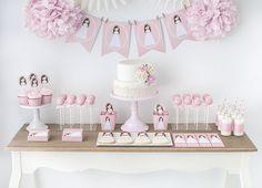 Postreadicción galletas decoradas, cupcakes y cakepops: Mesa dulce de comunión…