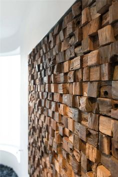 Accent wall - the last trend in modern wall design - Fresh ideas for the interior, decoration and landscape Wooden Wall Decor, Wooden Art, Wooden Walls, Wood Wall Design, Artist Wall, Wood Mosaic, Contemporary Apartment, Textured Walls, Interior Design Living Room
