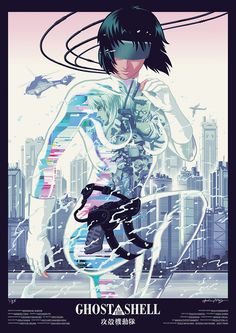 Ghost in the Shell by Kris Miklos - Home of the Alternative Movie Poster -AMP-