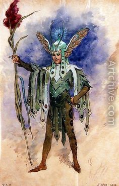 Peaseblossom, costume design for A Midsummer Night's Dream, produced by R. Courtneidge at the Princes Theatre, Manchester - C. Wilhelm