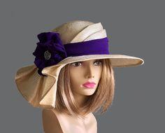 Chapeau de Sonya Kentucky Derby joli chapeau de paille avec