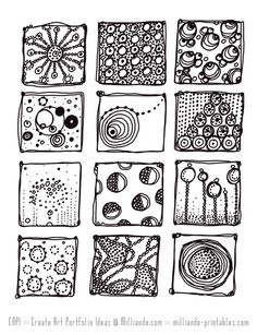 CAPI Raw Sketchbook Assignment 5 Full Circle Investigation, Art Teacher Resources to Create Art Portfolio Ideas, Art School investigations into Artistic Style, Online Art Lessons with Video Doodle Designs, Doodle Patterns, Zentangle Patterns, Stencil Designs, Zentangle Drawings, Doodles Zentangles, Doodle Drawings, Tangle Doodle, Zen Doodle