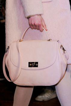 A blushing bag. Runway bags Milan Fashion Week Fall 2014 #MFW