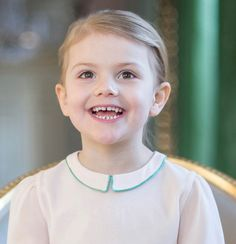 New pictures of Princess Estelle of Sweden on the occasion of her 4th birthday.