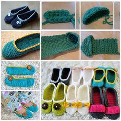 crochet footwear on Pinterest Free Crochet Slipper ...