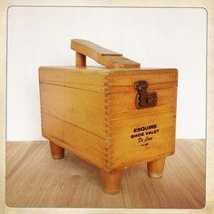 vintage shoe shine box Esquire valet De by amysvintagedecorium, $36.00