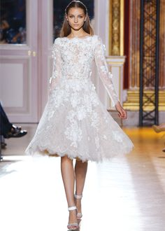 ZUHAIR MURAD Haute Couture Fall - Winter 2012 - #white #lace