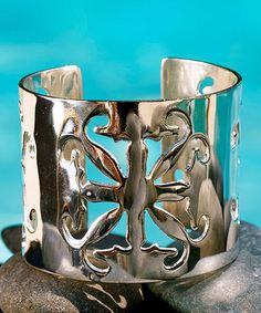 Take a look at this Silver Cutout Emblem Cuff by Rustic Cuff on #zulily today!