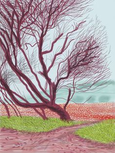 The Arrival of Spring in Woldgate, East Yorkshire in 2011 - 18 March, 2011, by David Hockney