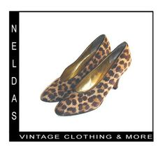 Anne Klein Vintage Leopard Animal Print High Heel Shoes | ebay